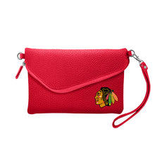 Load image into Gallery viewer, Chicago Blackhawks Fold Over Crossbody Pebble