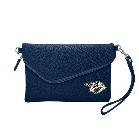 Nashville Predators Fold Over Crossbody Pebble