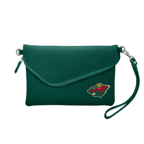 Minnesota Wild Fold Over Crossbody Pebble