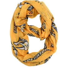 Load image into Gallery viewer, Nashville Predators Sheer Infinity Scarf Alternate