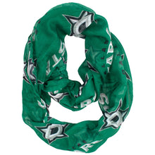 Load image into Gallery viewer, Dallas Stars Sheer Infinity Scarf