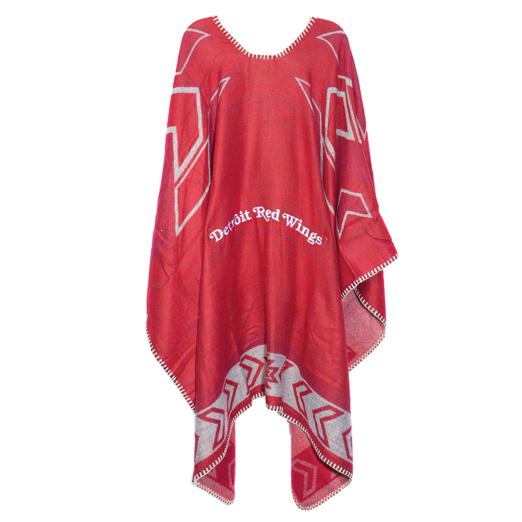 Detroit Red Wings Whipstitch Poncho