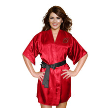 Load image into Gallery viewer, New Jersey Devils Satin Kimono