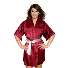 Load image into Gallery viewer, Minnesota Wild Satin Kimono