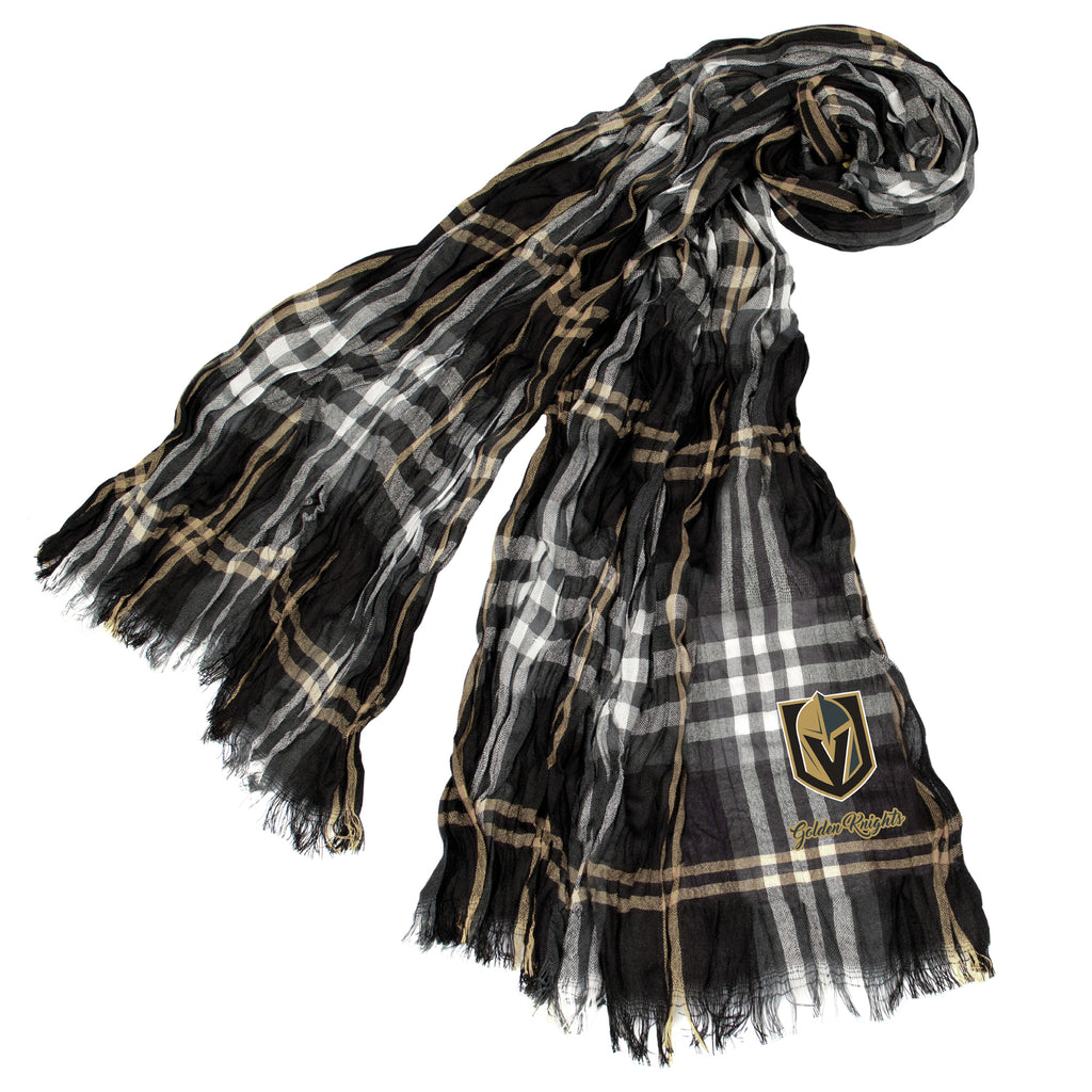 Vegas Golden Knights Crinkle Scarf Plaid