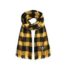 Load image into Gallery viewer, Pittsburgh Penguins Plaid Blanket Scarf