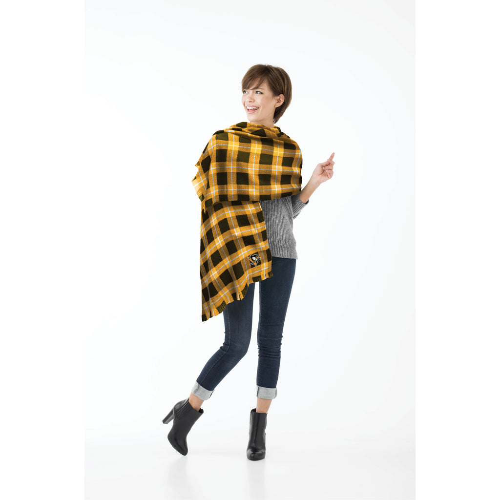 Pittsburgh Penguins Plaid Blanket Scarf