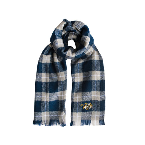 Nashville Predators Plaid Blanket Scarf