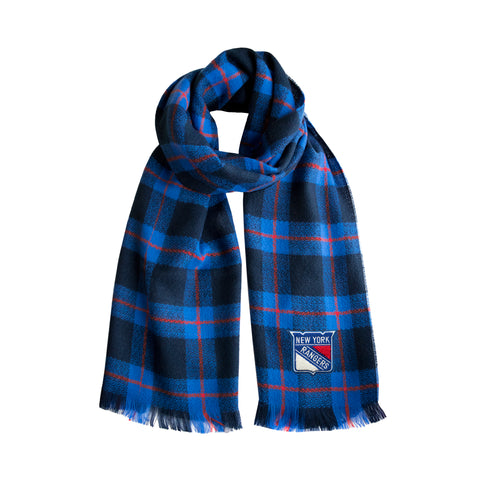 New York Rangers Plaid Blanket Scarf