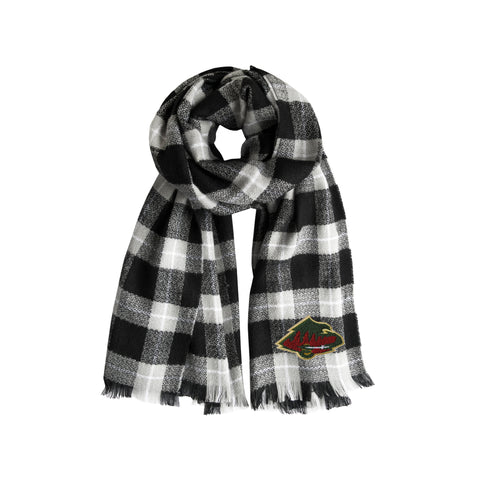 Minnesota Wild Plaid Blanket Scarf