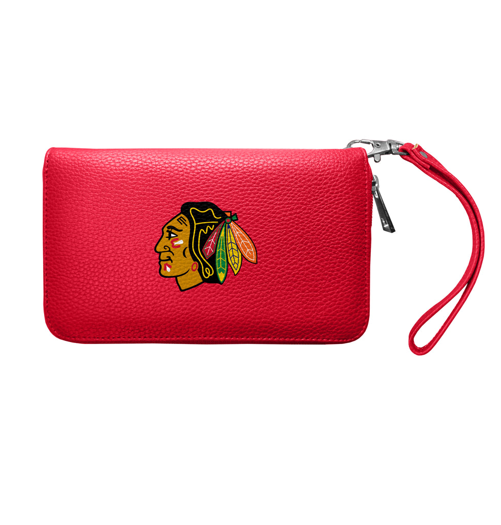 Chicago Blackhawks Zip Organizer Wallet Pebble