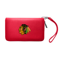 Load image into Gallery viewer, Chicago Blackhawks Zip Organizer Wallet Pebble