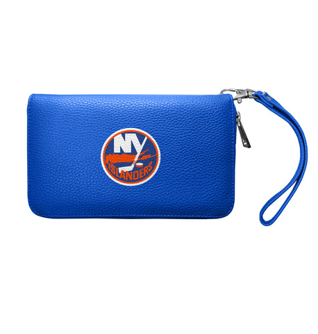 New York Islanders Zip Organizer Wallet Pebble