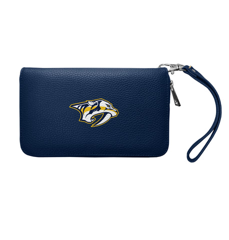 Nashville Predators Zip Organizer Wallet Pebble