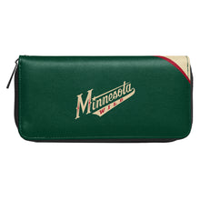 Load image into Gallery viewer, Minnesota Wild Curve Zip Organizer Wallet