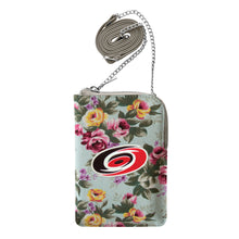 Load image into Gallery viewer, Carolina Hurricanes Canvas Floral Smart Purse