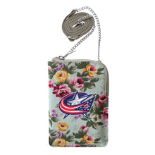 Load image into Gallery viewer, Columbus Blue Jackets Canvas Floral Smart Purse