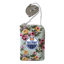 Load image into Gallery viewer, Edmonton Oilers Canvas Floral Smart Purse