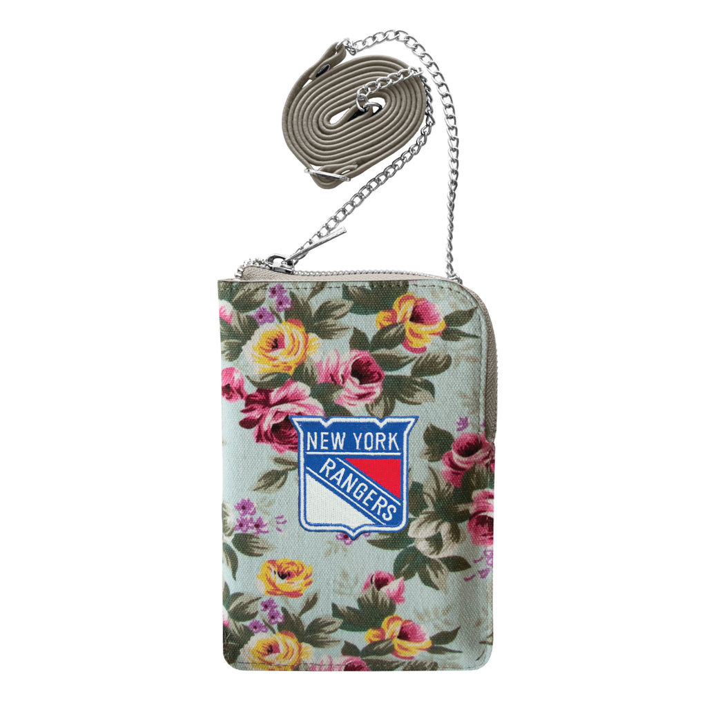 New York Rangers Canvas Floral Smart Purse