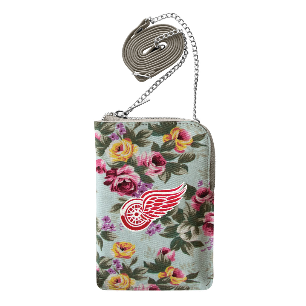 Detroit Red Wings Canvas Floral Smart Purse