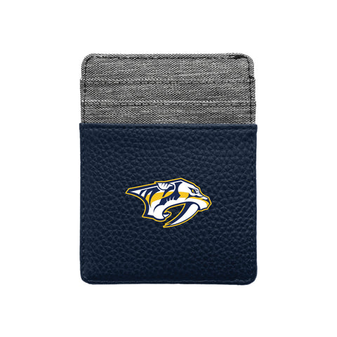 Nashville Predators Pebble Front Pocket Wallet