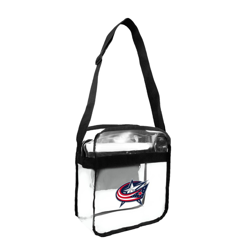 Columbus Blue Jackets Clear Carryall Crossbody