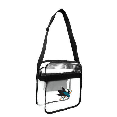 San Jose Sharks Clear Carryall Crossbody