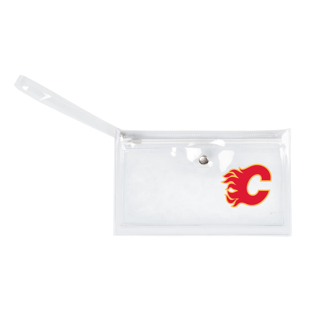 Calgary Flames Clear Ticket Wristlet