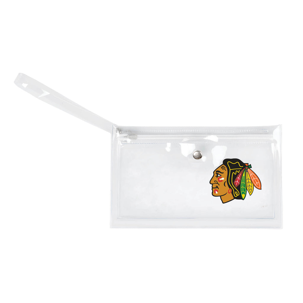 Chicago Blackhawks Clear Ticket Wristlet