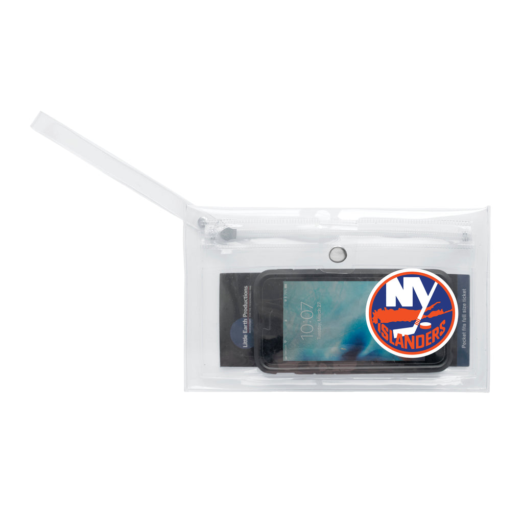 New York Islanders Clear Ticket Wristlet