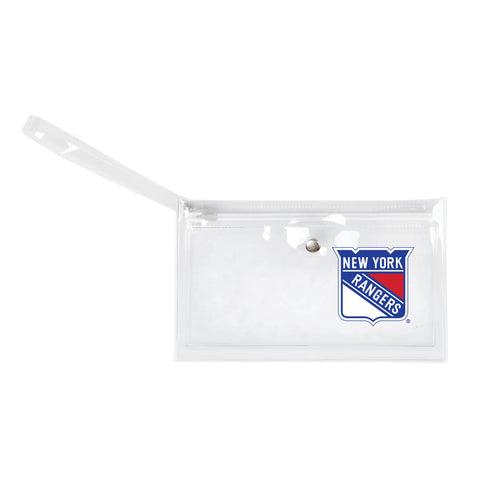 New York Rangers Clear Ticket Wristlet