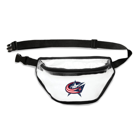Columbus Blue Jackets Clear Fanny Pack