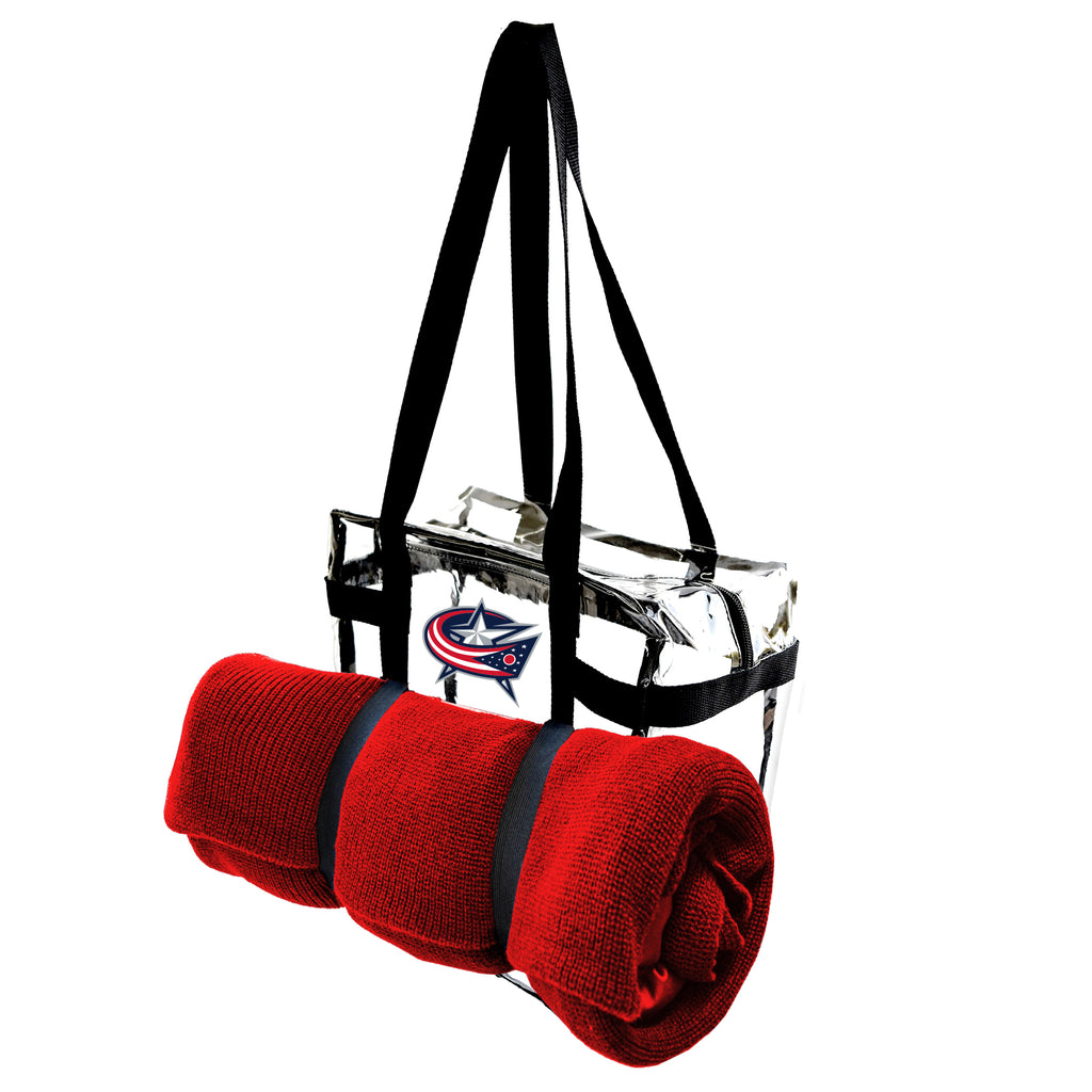 Columbus Blue Jackets Clear Tote Along
