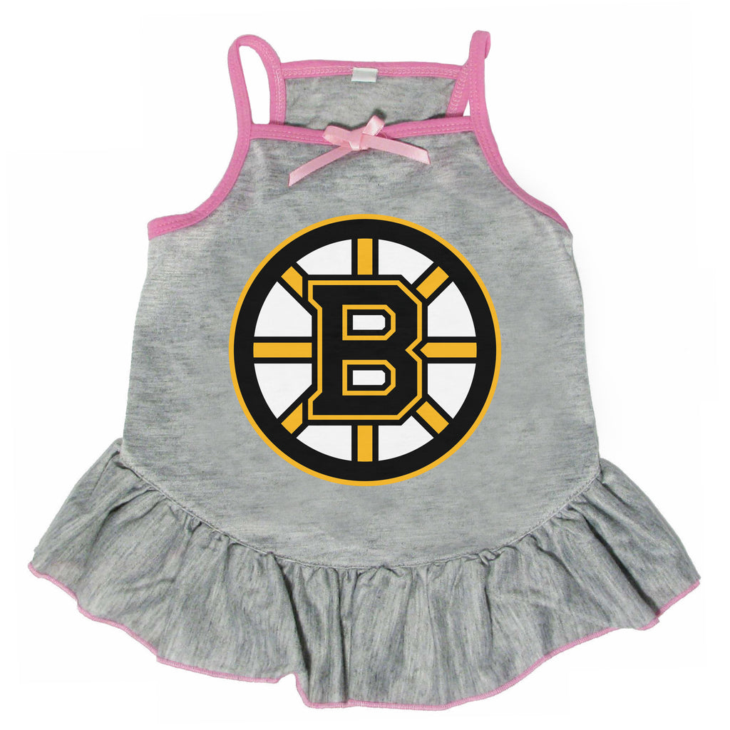Boston Bruins Pet Dress Gray