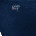 Columbus Blue Jackets Asymmetrical Crystal Knit Poncho
