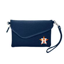 Load image into Gallery viewer, Houston Astros Fold Over Crossbody Pebble