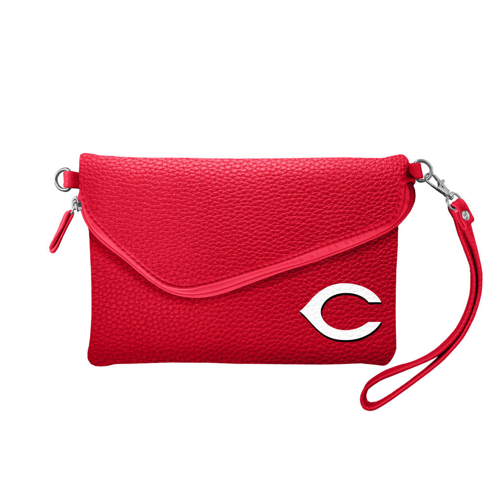 Cincinnati Reds Fold Over Crossbody Pebble