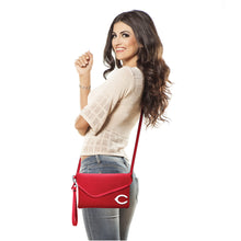 Load image into Gallery viewer, Cincinnati Reds Fold Over Crossbody Pebble