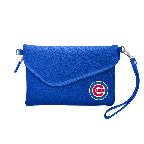 Chicago Cubs Fold Over Crossbody Pebble