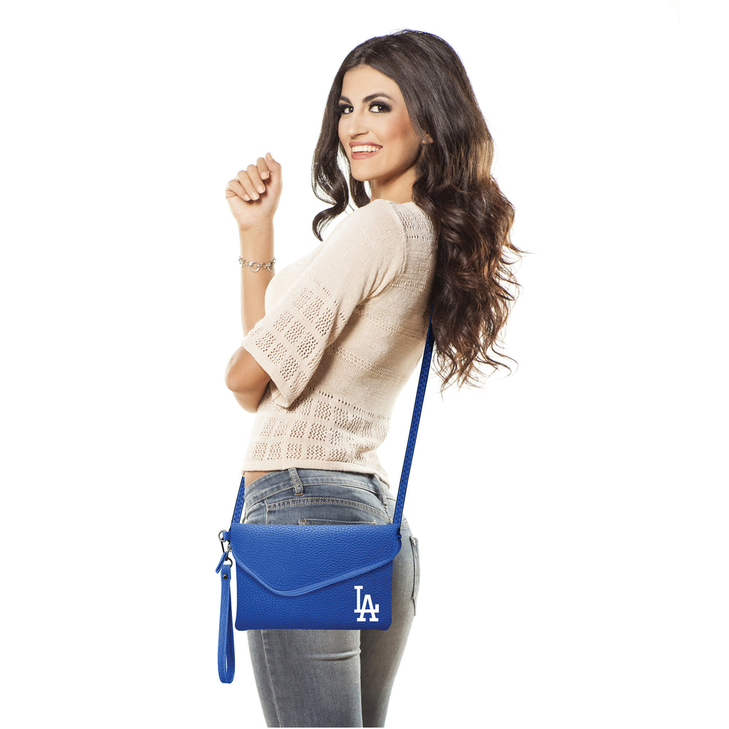 Los Angeles Dodgers Fold Over Crossbody Pebble