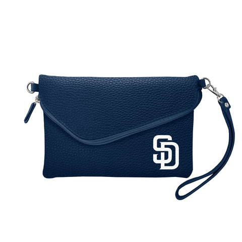 San Diego Padres Fold Over Crossbody Pebble