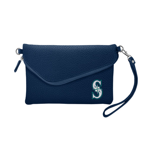 Seattle Mariners Fold Over Crossbody Pebble