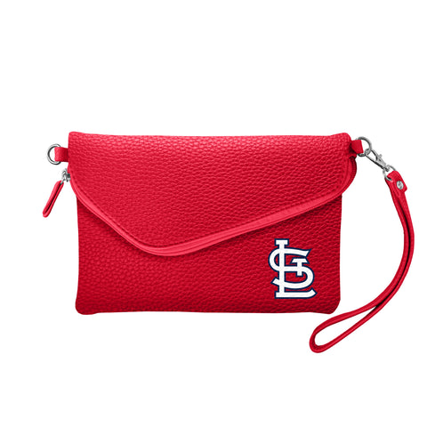 St. Louis Cardinals Fold Over Crossbody Pebble