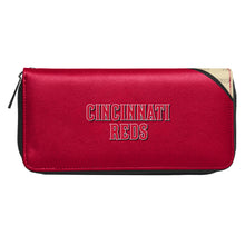 Load image into Gallery viewer, Cincinnati Reds Curve Zip Organizer Wallet