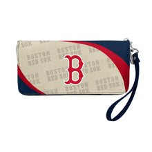Load image into Gallery viewer, Boston Red Sox Curve Zip Organizer Wallet