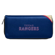Load image into Gallery viewer, Texas Rangers Curve Zip Organizer Wallet