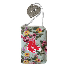 Load image into Gallery viewer, Boston Red Sox Canvas Floral Smart Purse
