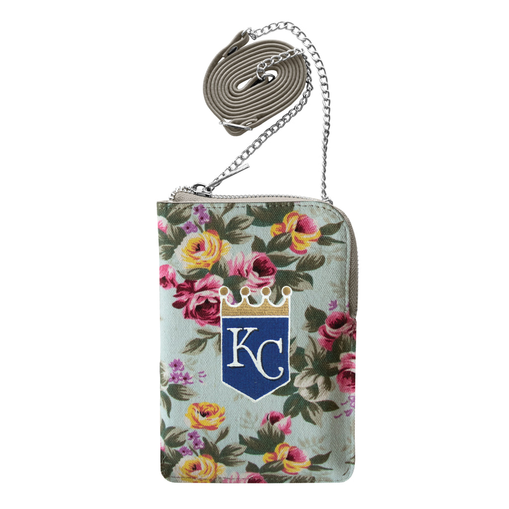 Kansas City Royals Canvas Floral Smart Purse
