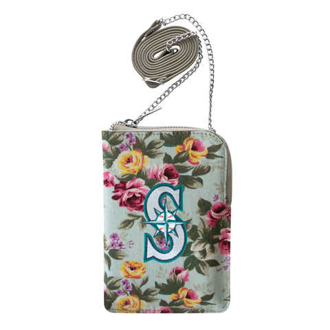 Seattle Mariners Canvas Floral Smart Purse