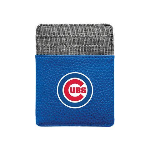 Chicago Cubs Pebble Front Pocket Wallet